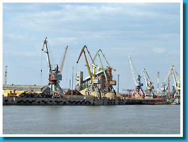 Loading berth of the Astrakhan port